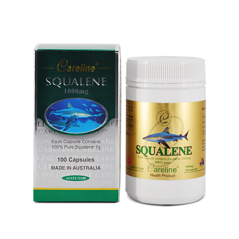 Careline Squalene 1000mg SGC (100  White Jar/Boxed)